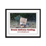 Drone Delivery Failure Framed Panel Print