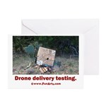 Drone Delivery Failure Greeting Cards (Pk of 20)