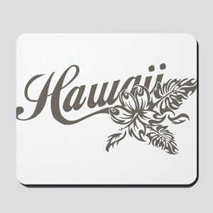 Hawaii Script with Tropical Flower Mousepad