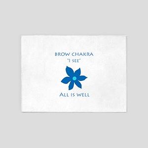 brow chakra 5'x7'Area Rug