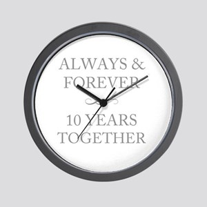 10 Years Together Wall Clock