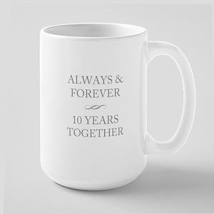 10 Years Together Large Mug