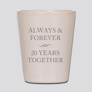 20 Years Together Shot Glass