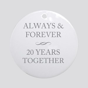 20 Years Together Round Ornament