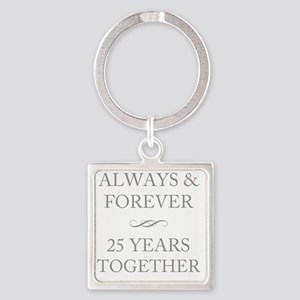 25 Years Together Square Keychain