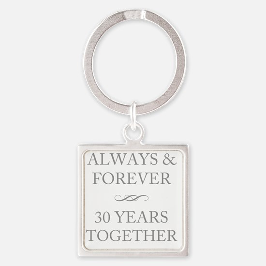 30 Years Together Square Keychain