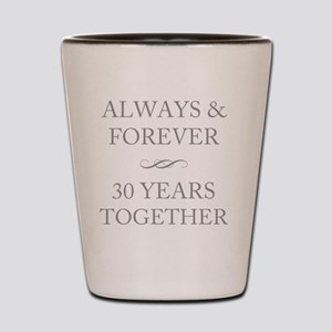 30 Years Together Shot Glass