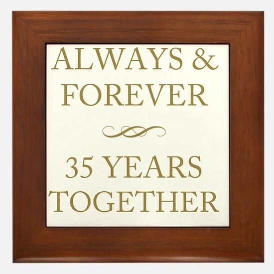 35 Years Together Framed Tile