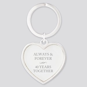 40 Years Together Heart Keychain