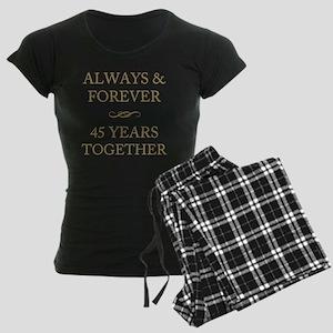45 Years Together Women's Dark Pajamas