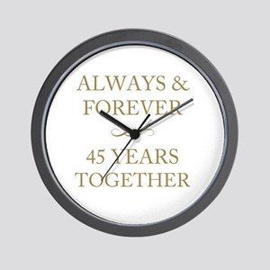 45 Years Together Wall Clock