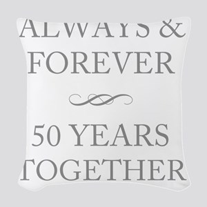 50 Years Together Woven Throw Pillow