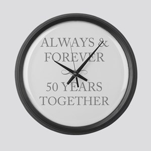 50 Years Together Large Wall Clock