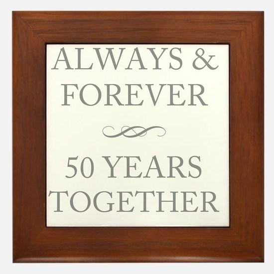 50 Years Together Framed Tile