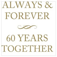 60 Years Together Framed Print
