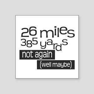 Funny 26.2 Marathon Sticker