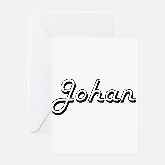 Johan Classic Style Name Greeting Cards