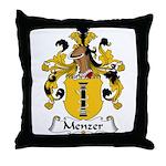 Menzer Family Crest Throw Pillow