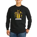 Menzer Family Crest Long Sleeve Dark T-Shirt