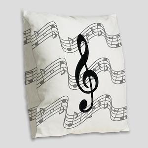 . Burlap Throw Pillow