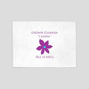 crown chakra 5'x7'Area Rug