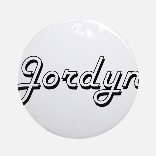 Jordyn Classic Style Name Ornament (Round)