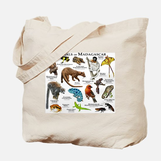 Animals of Madagascar Tote Bag