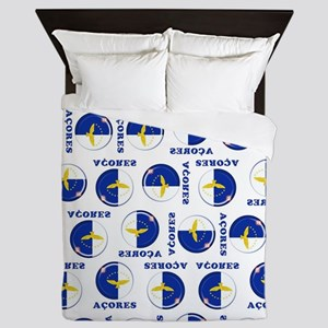 Azores islands flag Queen Duvet