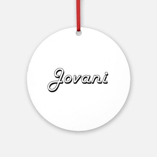 Jovani Classic Style Name Ornament (Round)