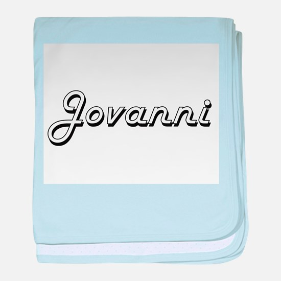 Jovanni Classic Style Name baby blanket