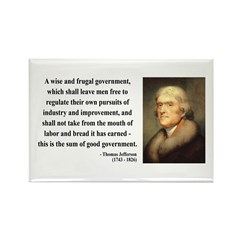 Thomas Jefferson 23 Rectangle Magnet (100 pack)