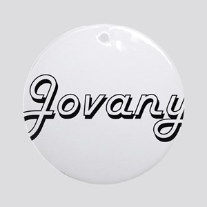 Jovany Classic Style Name Ornament (Round)