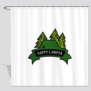 Happy Camper 2. Shower Curtain