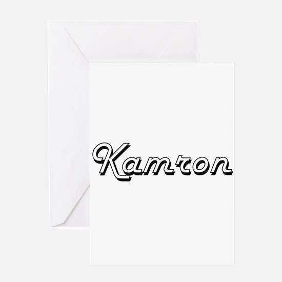 Kamron Classic Style Name Greeting Cards