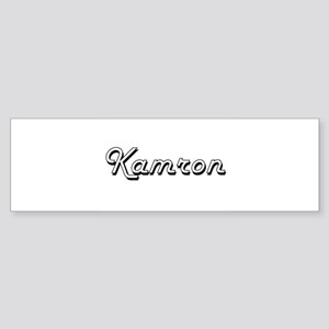 Kamron Classic Style Name Bumper Sticker
