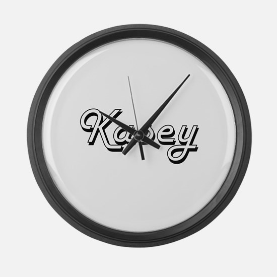 Kasey Classic Style Name Large Wall Clock