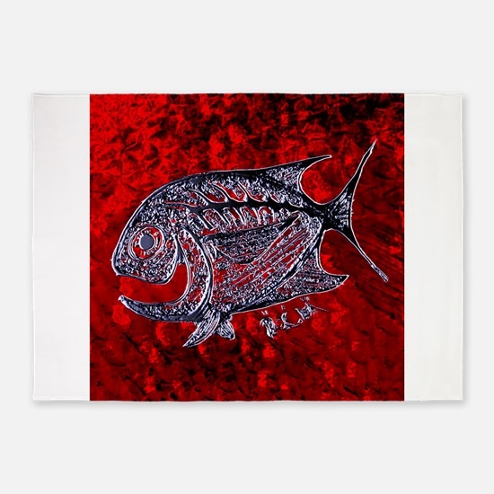 Cool Fish on Red Scales. Fish Retro Tuna RCM Wild