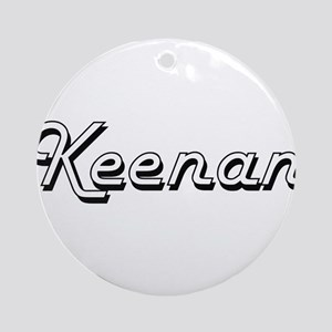 Keenan Classic Style Name Ornament (Round)