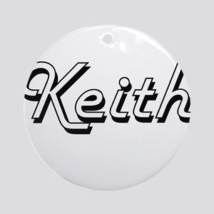 Keith Classic Style Name Ornament (Round)