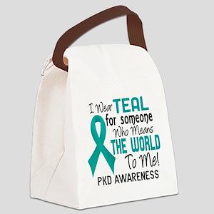 PKD MeansWorldToMe2 Canvas Lunch Bag