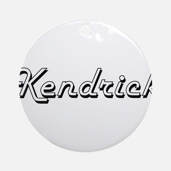 Kendrick Classic Style Name Ornament (Round)