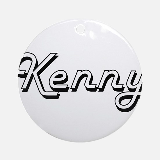 Kenny Classic Style Name Ornament (Round)