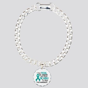 PCOS MeansWorldToMe2 Charm Bracelet, One Charm