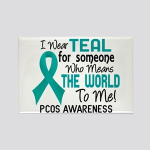 PCOS MeansWorldToMe2 Rectangle Magnet