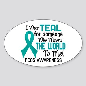 PCOS MeansWorldToMe2 Sticker (Oval)