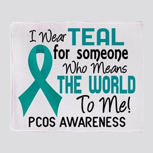 PCOS MeansWorldToMe2 Throw Blanket