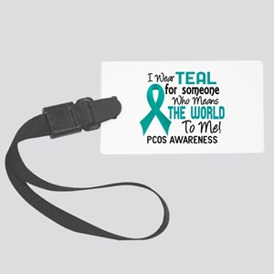 PCOS MeansWorldToMe2 Large Luggage Tag