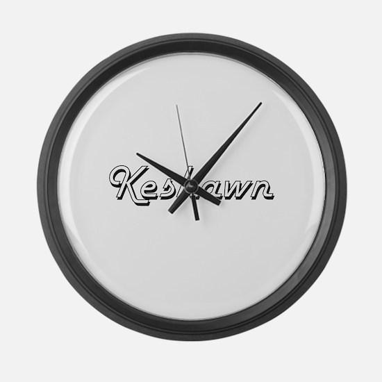 Keshawn Classic Style Name Large Wall Clock