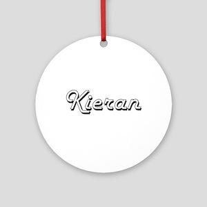Kieran Classic Style Name Ornament (Round)