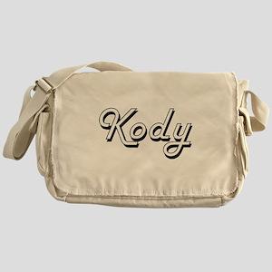 Kody Classic Style Name Messenger Bag